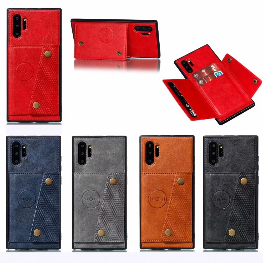 Multifunction <font><b>Leather</b></font> Wallet Flip <font><b>Case</b></font> For Samsung <font><b>Galaxy</b></font> Note 10 Pro 9 8 S10 Plus <font><b>S9</b></font> S8 with Card Storage Magnetic Metal Buckle image