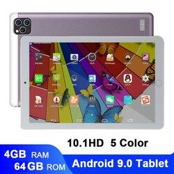 Новейший 10-дюймовый планшет, Android 9,0, двойная SIM камера, планшет, 4 Гб 64 ГБ, Wifi, Bluetooth, Android, планшеты, ПК с GPS, телефонным звонком