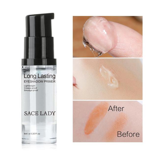 SACE LADY Eyeshadow Primer Makeup Eye Base Cream Liquid Eye Shadow Primer Make Up Oil Control Brighten Long Lasting Cosmetic 3