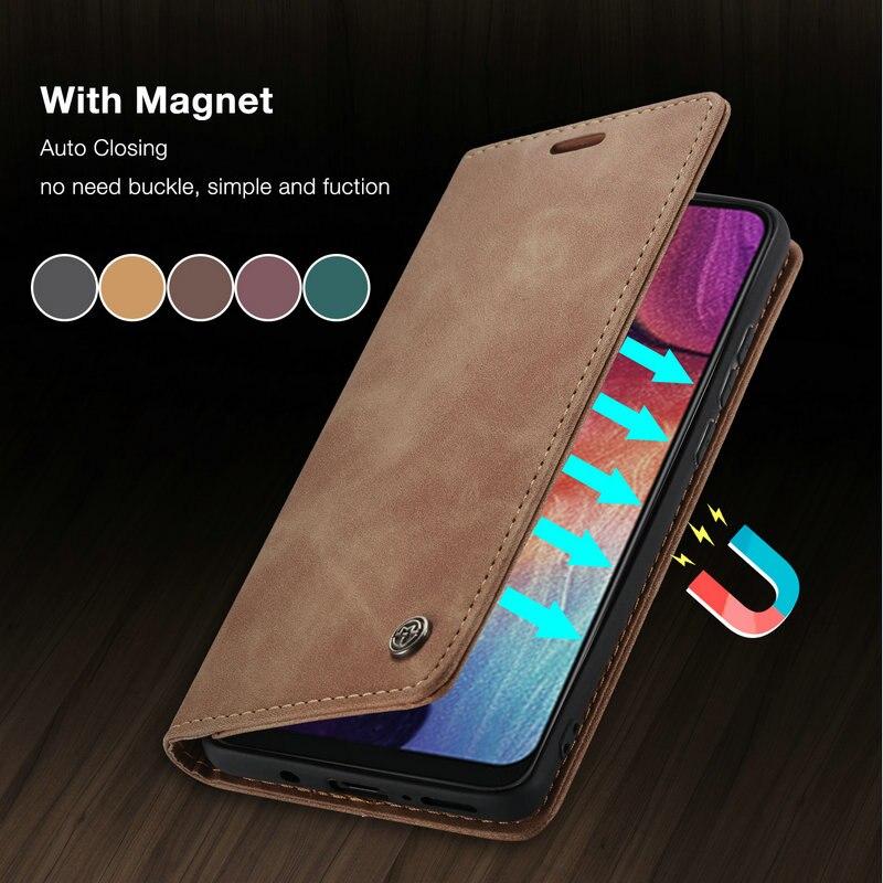 CaseMe Retro Flip A51 A20s A20 A30 A90 Case For Samsung S20 Ultra S10 S9 S8 S7 Plus A10 A20 A30 A40 A70 M30S A50 A71 Magnet Case
