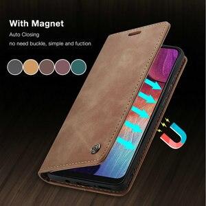 CaseMe Retro Flip A51 A41 A21s A31 A90 Case For Samsung S20 Ultra S10 S9 S8 Plus A10 A20 M31 A70 M30s A50 A71 A81 Magnet Case(China)