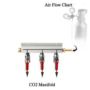 Image 5 - 3 웨이 CO2 가스 분배 블록 매니 폴드 스플리터 (7mm 호스 바브 포함) 홈 양조 밸브 초안 맥주 분배 케그 (4 클램프 포함)