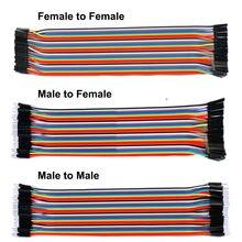 10cm 20cm 30cm 120 pces dupont linha 40pin macho para macho + macho para fêmea e fêmea para cabo dupont fio de ligação em ponte fêmea para arduino