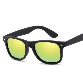 Мужские Поляризованные квадратные брендовые дизайнерские солнцезащитные очки 2020 для мужчин UV400, зеркальные очки для вождения