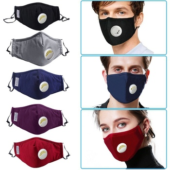 US Ship Cotton Anti-dust Mask Activated Carbon Filter Reusable Cotton Mouth Face Mask Anti-Dust + PM2.5 Mask Filter