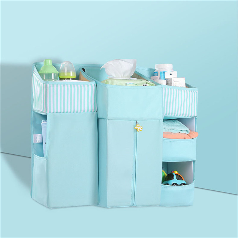 Baby Bedside Storage Bag Baby Pockets Cot Bed Hanging Bag Crib Organizer Toy Diaper Pocket For Crib Bedding Bed