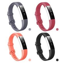 Silicone macio seguro faixa ajustável para fitbit alta hr banda pulseira pulseira pulseira acessórios de substituição hign qualidade