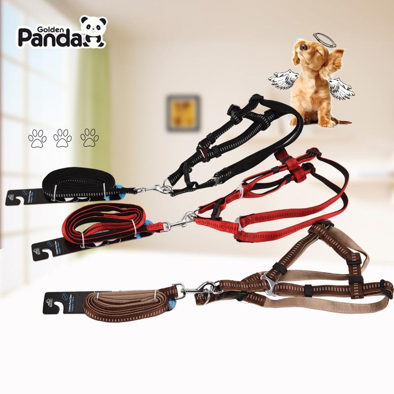 Genuine Product Gold Panda Reflective Pet Traction Rope Large Dog Medium-sized Dog Dog Rope Dog Chain Golden Retriever Satsuma C