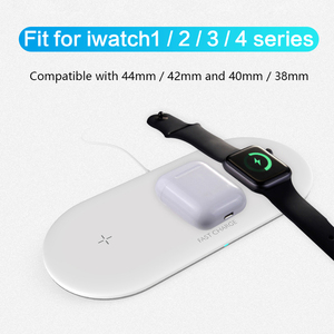 Image 5 - Fast Wireless Charger for iPhone 11 Pro X 8 Plus 3 in 1 Qi Wireless charging pad For Airpods For Apple Watch 4 3 2 1 Charge