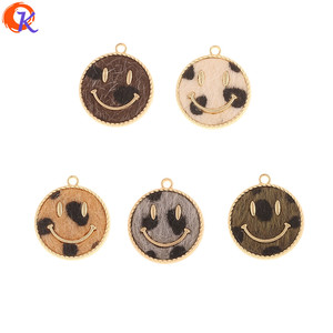 Image 1 - Cordial Design 50Pcs 18*20MM Jewelry Accessories/DIY Making/Hand Made/Face Shape/Leopard Print Effect/Charms/Earrings Findings