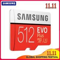 Original SAMSUNG tarjeta Micro SD de 512 GB 100 MB/S Class10 U3 U1 SDXC grado EVO + Micro SD tarjeta de memoria tarjeta TF tarjeta Flash para teléfono/UAV