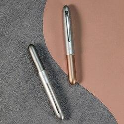 Высококачественная короткая карманная авторучка ручка металл перьевая ручка с колпачком дополнительные изысканные подарочные ручки с чер...