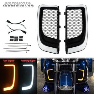 Image 1 - אופנוע LED Fairing נמוך גריל הפעל אות אור מקרה להארלי סיור אלקטרה Glide Ultra קלאסי רחוב Glide FLHTCU