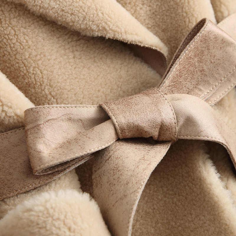 Płaszcz futro prawdziwe kobiety ubrania 2020 strzyżenie owiec wełny futra jesień kurtka zimowa dla kobiet koreańskie ubrania Y536 KJ2882 s