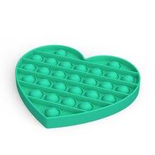 Rainbow Push Bubble Pops Fidget Sensory Toys for Autisim Anti-stress Game Stress Relief Squishy Pops It Fidget Toys -B