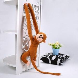 Image 3 - 60センチメートルおかしい猿動物長い手人形ソフトぬいぐるみ赤ちゃんのおもちゃベビーカー睡眠おもちゃぬいぐるみ人形子供のギフト