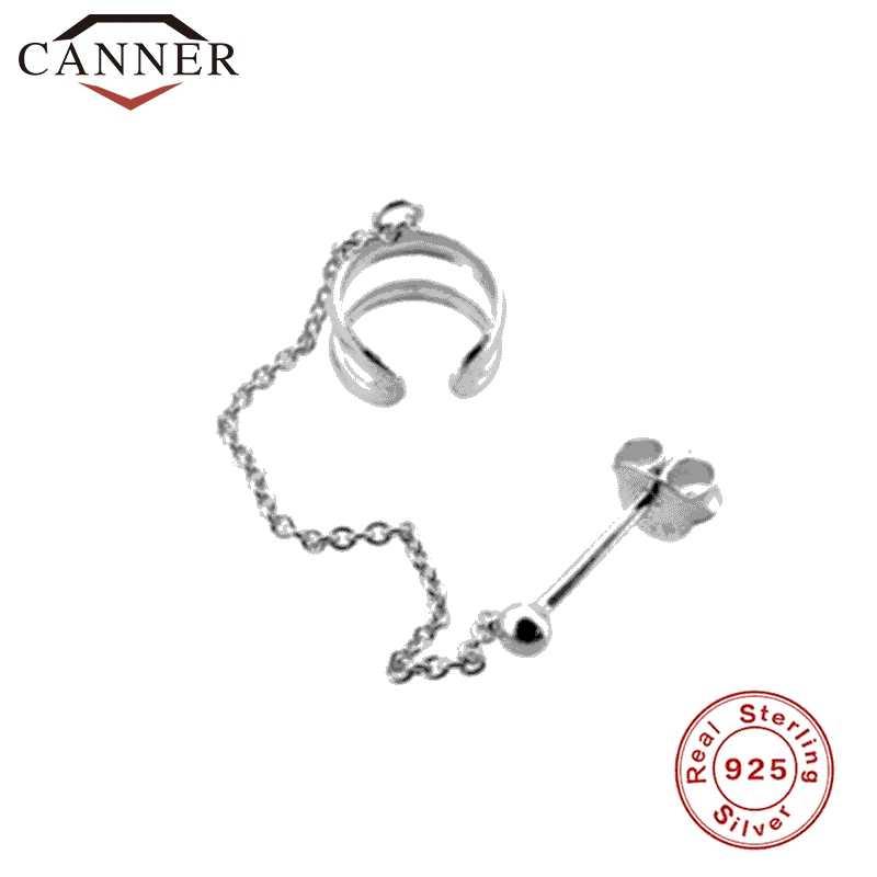 1 stücke 925 Sterling Silber Kette Stud Ohrringe für Frauen Quaste Clip auf Ohrringe Mode Ohrringe Schmuck Dropshipping