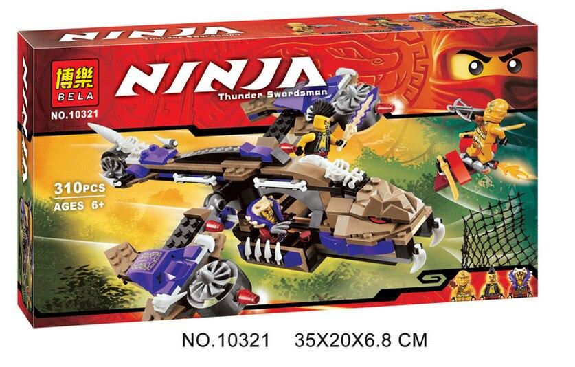 New 311Pcs Ninja Series Condrai Copter Attack Model Building Blocks Compatible  70746 Ninjagoing Toys For Kids