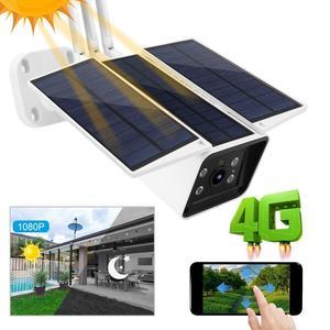 Солнечная 4G IP камера 1080P HD наружная Зарядка батарея беспроводная камера безопасности ПИР Обнаружение движения пуля видеонаблюдения CCTV