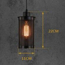 Vintage Lndustrial Iron Pendant Lamp Dia Hollow Metal Lampshade Restaurant/Bar/Coffee/Bed Room Retro American Pendant Lamp