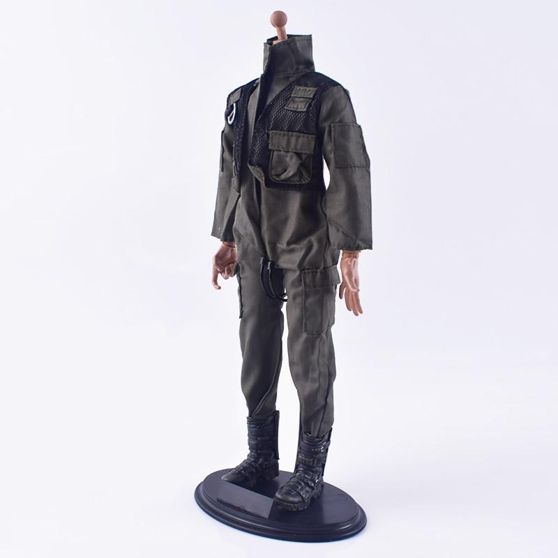 "1/6 Soldier Accessoires F14/F15 Mannelijke Piloot Uniformen Siamese Jumpsuit Kleding F 12 ""Ph Hottoys Body 1/6 Actie figuur Pop Speelgoed"