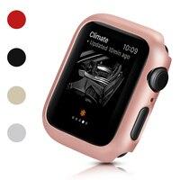 Funda protectora delgada para iWatch, parachoques de 40mm, 44mm, 38mm y 42mm, 5 colores para carcasa de reloj Apple Series 6 SE 5 4 3