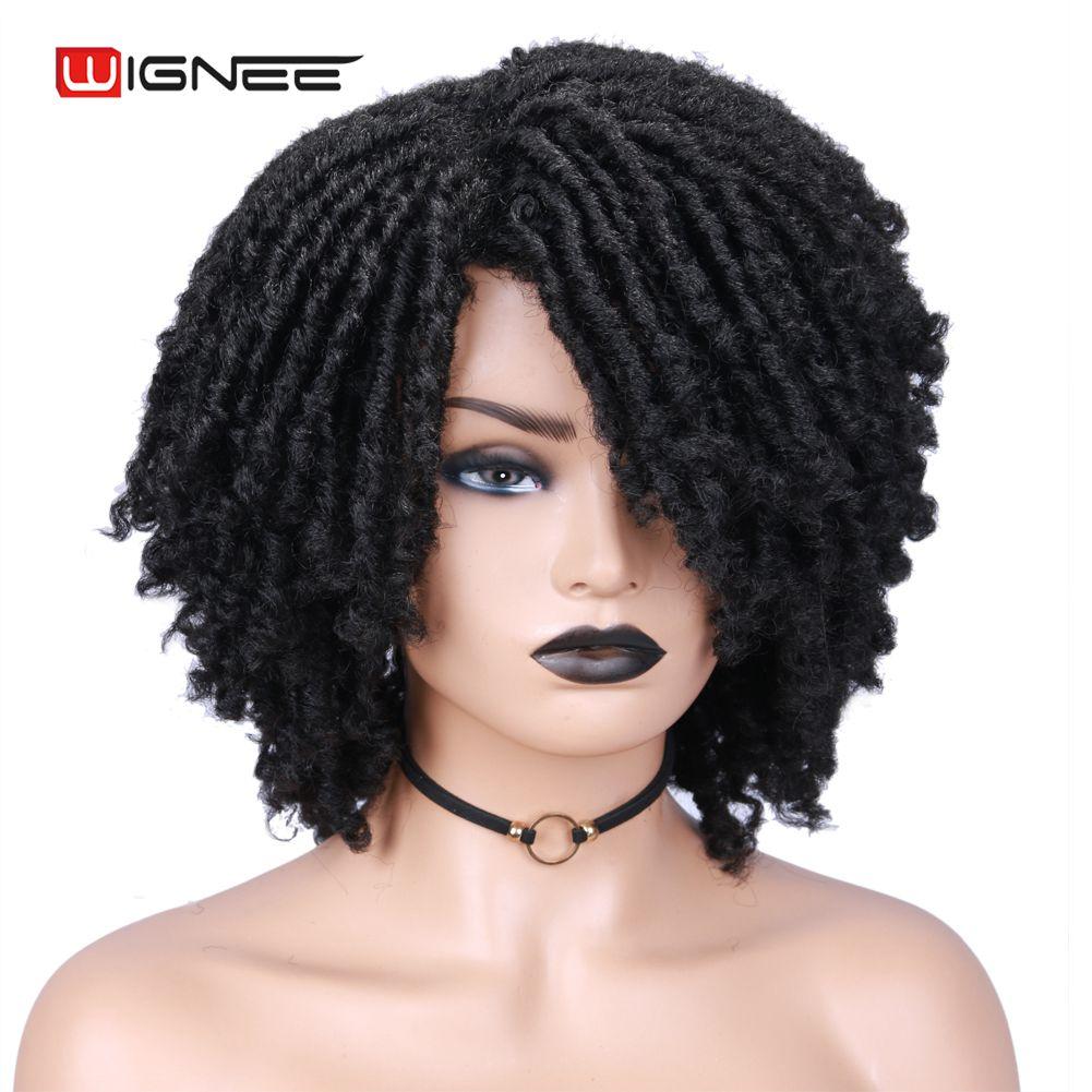 Perucas de cabelo encaracolado com franja de
