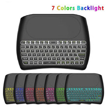 D8 Pro Backlight English 2.4GHz Wireless Mini Keyboard Laptop Parts Air Mouse Touchpad Controller for Android TV BOX