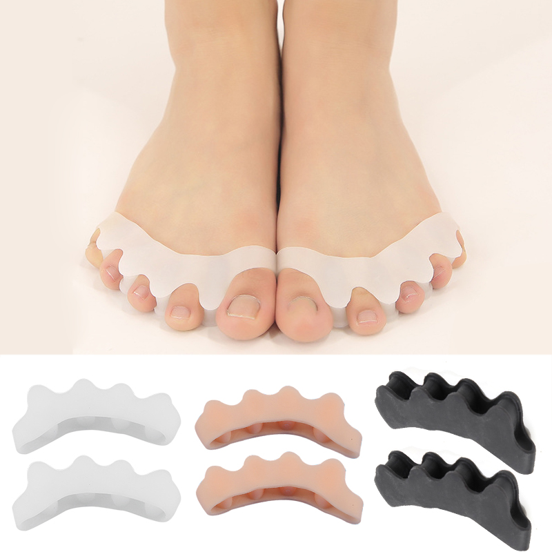 2Pcs Soft Gel Separator Silicone Hammer Toe Corrector Protector Foot Straightener Spreader Manicure Nail Tools