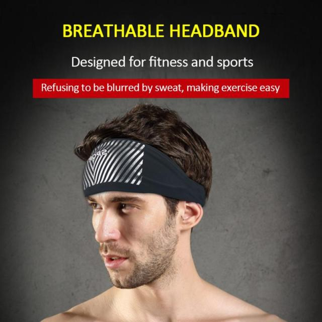 Breathable Sports Fitness Antiperspirant Belt Mens Elastic Headband Wide Sweatband Stretch Sweat Sport Yoga Run Solid Hairband 5