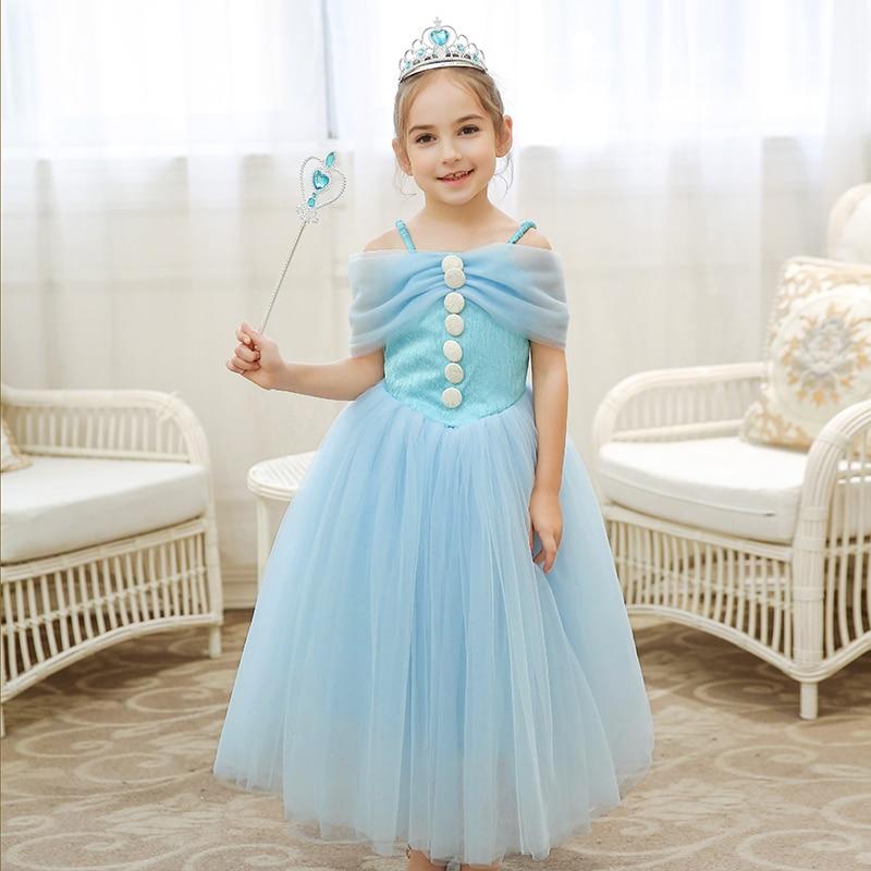 Robes bébé fille robe tulle enfant robe bleu