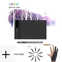 VEIKK S640 graphic tablet 6 x 4 inch Ultra-Thin OSU Drawing Tablet with Battery-Free Pen 8192 Levels Pressure Sensitivity) цена и фото