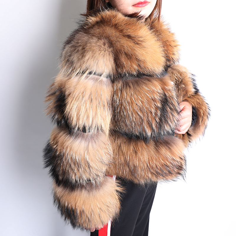 Jacket Fox-Fur-Coat Short-Section Natural Winter Fashion Women Luxury Thickening New title=