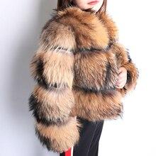 2020 חורף טבעי שועל פרווה מעיל נשים קצר סעיף חם עיבוי אמיתי שועל פרווה מעיל אופנה יוקרה Slim מעיל נקבה
