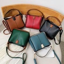 купить Ladies Bag Bucket Shoulder Strap Female Lady's Handbag Woman Bags Summer 2019 Messenger Bag Women Leather Bags Clutch Tote дешево