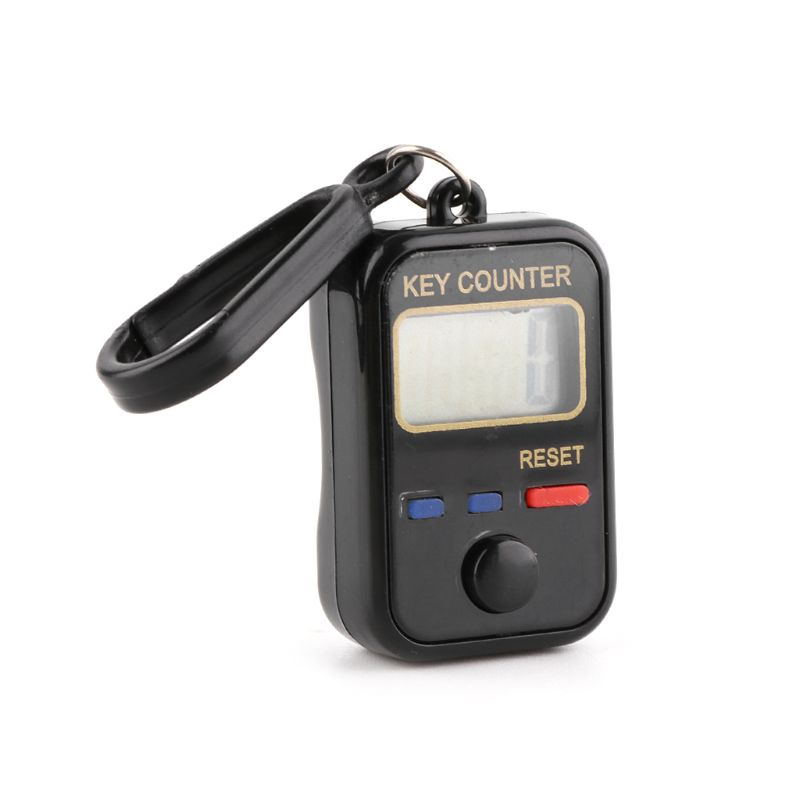 LCD Digit Electronic Tally Counter 0 99999 Keychain Finger Counter For Sewing Knitting Weave Tool in Counters from Tools