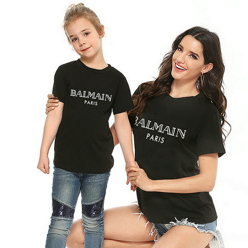 Mother And Son Daughter Clothes Short Sleeve Mommy & Me Tee Shirt Mama And Son T Shirts Summer Family Matching Clothes Outfits