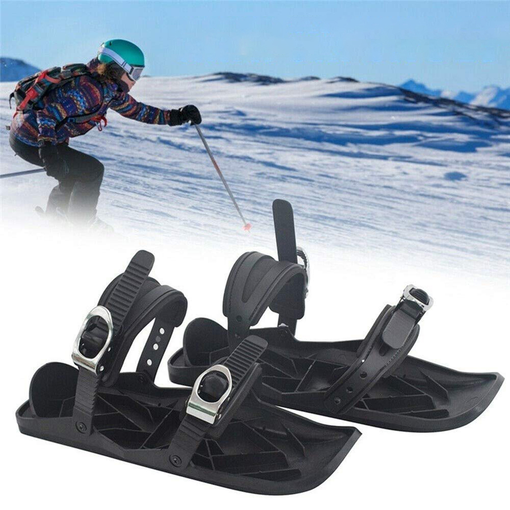 Adjustable Skiing Mini Sled Snowboard Wall Sport Ski Boots Combine Skates with Skis Outdoor Skiing Winter Sports Equipment