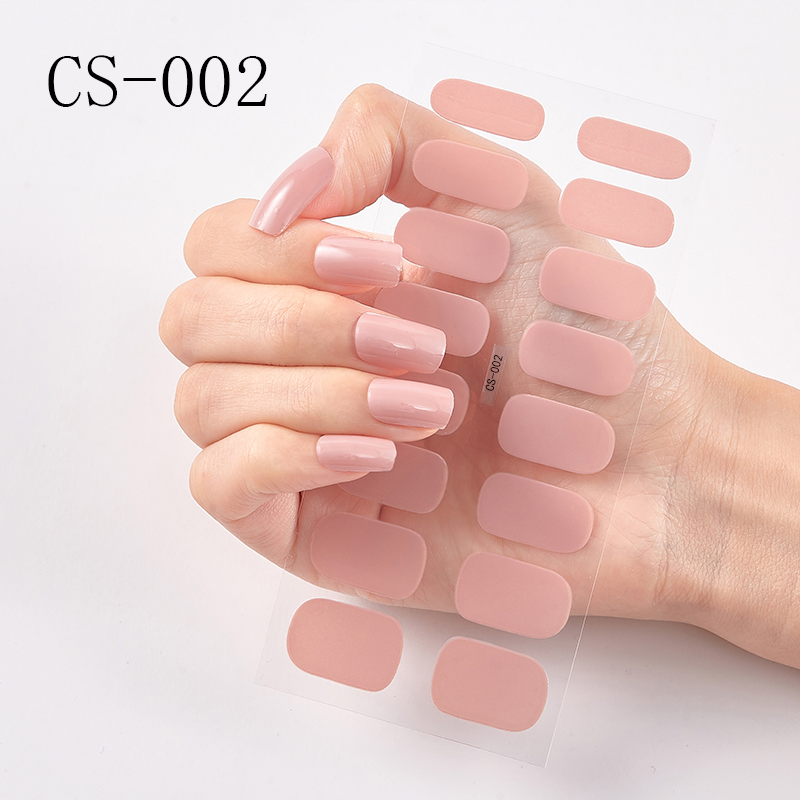 1 Sheet Nail Art Sticker Polish Wraps Double Ended Adhesive Pure Solid Color Full Cover Strips DIY Fashion Stickers Manicure