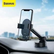 Baseus-Soporte Universal de teléfono para coche, Base de succión de gravedad, soporte de bloqueo automático, soporte retráctil de teléfono