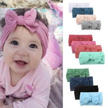 Baby Girl Elastic Hairband Chiffon Newborn Baby Girl Headbands Baby Hair Band For Kids Baby Hair Accessories ##0 cheap MUQGEW Unisex COTTON 4PCS Accessories Headwear 0-1M Solid