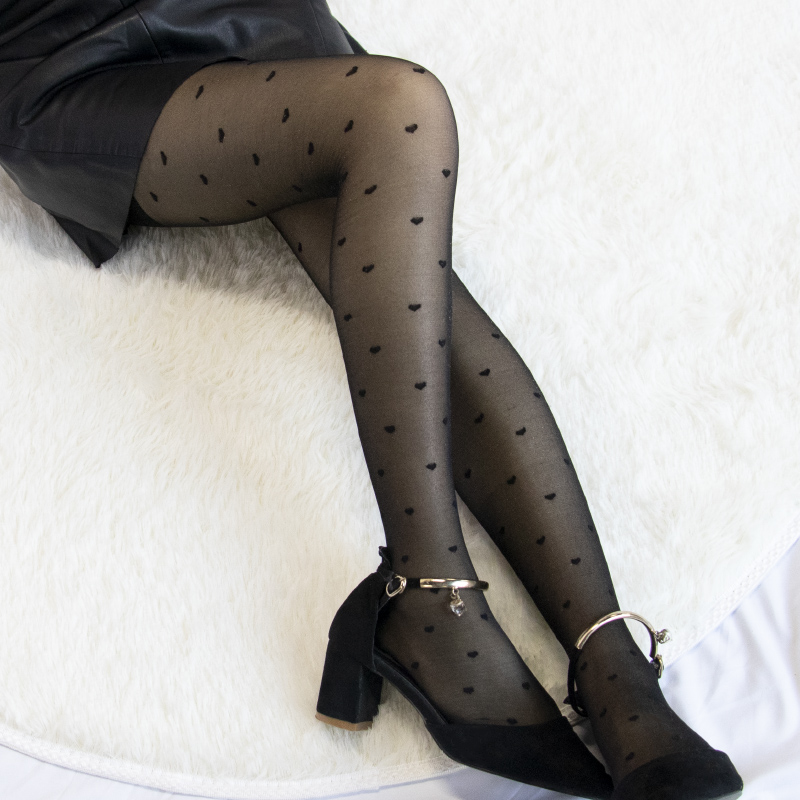 Hd1a001cc9870400f8f5b2e44b0bc37614 1PC Sexy Women Pantyhose Tights Summer Nylon Polka Dot Print Stockings Seamless Fishnet Mesh Female Hosiery Vintage Faux Tattoo