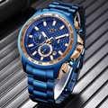 LIGE 2020 nuevo reloj azul de moda, relojes para hombres reloj de lujo de marca superior reloj de cuarzo cronógrafo militar para hombre reloj Masculino