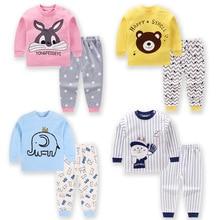 цена на Children's Clothing Boy Girl Baby Fashion Kids Cotton Clothes Autumn Pants Children Underwear Set Two-piece Suit Home Service