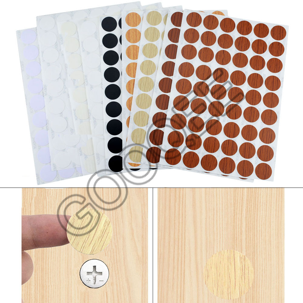 54 pces pvc 21mm adesivo auto adesivo parafuso buraco adesivo beleza adesivo parafuso capa decorativa de madeira artesanato ornamento