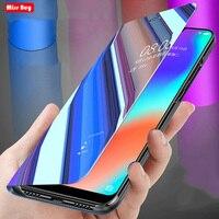 Custodia a specchio in pelle intelligente di lusso per Samsung Galaxy C7 C9 Pro C8 nota 3 4 5 8 9 10 Pro Note 20 custodia Ultra M20 M30 M40 A10S