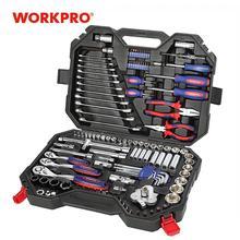 Workpro 123Pc Nieuwe Monteur Tool Set Voor Auto Thuis Tool Kits Quick Release Ratel Steeksleuteldop Set