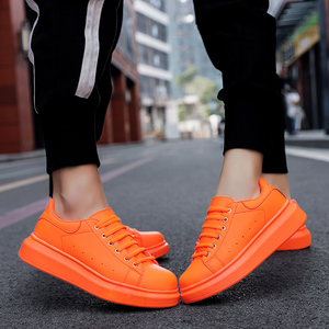 Image 4 - Shoes Man's Scarpe Donna Spring Autumn Genuine Leather Flat Couple Casual Shoes Tenis Feminino White Sneakers Women Basket Femme