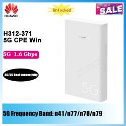 Huawei-5G CPE Win H312-371 Max, 1.65Gbps, téléchargement avec fente pour carte sim NSA, modes réseau 5G, modem routeur WIFI, Original