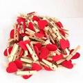 50 шт./лот мини романтические деревянные зажимы в форме любящего сердца бумаги для фотографий ручной работы прищепки для одежды домашние укр...